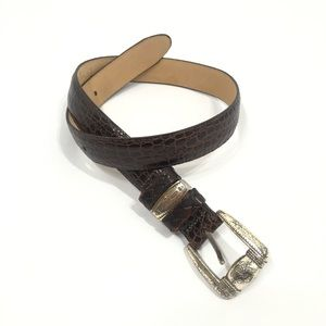 Brighton Small Leather Pebbled Handcrafted Belt